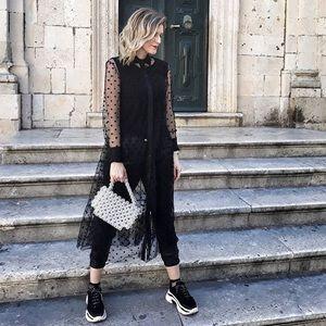 Zara Dresses - ZARA POLKA DOT TULLE DRESS